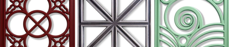 Chromacast Architectural Grille Ornamentation by Pineapple Grove Designs